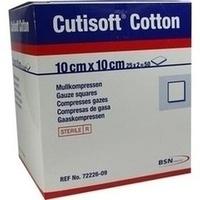 Cutisoft Cotton Kompressen steril 12-fach 10x10cm, 25X2 ST, Bsn Medical GmbH