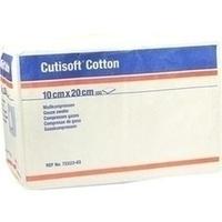 Cutisoft Cotton Kompressen unsteril 8-fach 10x20cm, 100 ST, Bsn Medical GmbH