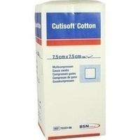 Cutisoft Cotton Kompressen unsteril 12-fach7.5x7.5, 100 ST, Bsn Medical GmbH