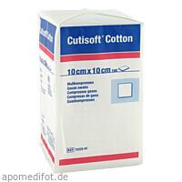 Cutisoft Cotton Kompressen unsteril 12-fach10x10cm, 100 ST, Bsn Medical GmbH