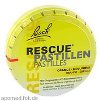 Bach Original Rescue Pastillen Orange-Holunder, 50 G, Nelsons GmbH