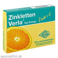 Zinkletten Verla Orange, 50 ST, Verla-Pharm Arzneimittel GmbH & Co. KG