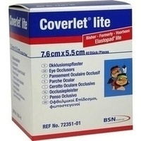 Coverlet lite Augen-Okklusionspflaster 76x55mm, 40 ST, Bsn Medical GmbH