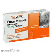 Paracetamol-ratiopharm 125mg Zäpfchen, 10 ST, ratiopharm GmbH