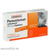 Paracetamol-ratiopharm 250mg Zäpfchen, 10 ST, ratiopharm GmbH