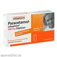 Paracetamol-ratiopharm 500mg Zäpfchen, 10 ST, ratiopharm GmbH