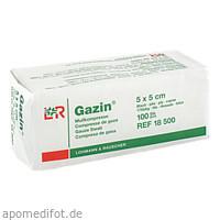 GAZIN Kompresse 5x5cm 8fach OP, 100 ST, Lohmann & Rauscher GmbH & Co. KG