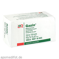 GAZIN Kompresse 7.5x7.5cm 8fach OP, 100 ST, Lohmann & Rauscher GmbH & Co. KG