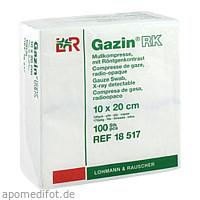 GAZIN Mullkompresse 10x20cm 12fach mit RK unsteril, 100 ST, Lohmann & Rauscher GmbH & Co. KG