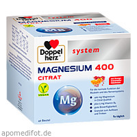 Doppelherz Magnesium 400 Citrat system, 40 ST, Queisser Pharma GmbH & Co. KG