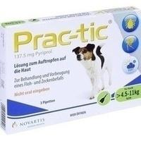 PRAC tic f.kleine Hunde 4,5-11 kg Einzeldosispip., 3 ST, Elanco Deutschland GmbH