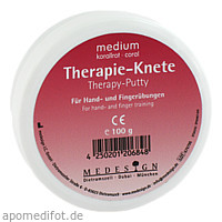 Therapie Knete Medium Korallrot, 100 G, Medesign I. C. GmbH