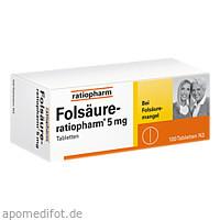 Folsäure-ratiopharm 5 mg, 100 ST, ratiopharm GmbH