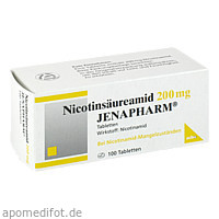 NICOTINSAEUREAMID 200MG JENAPHARM, 100 ST, Mibe GmbH Arzneimittel