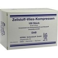 ZELLSTOFF VLIES-KOMPRESSEN 6X8CM UNSTERIL, 100 ST, Kerma Verbandstoff GmbH