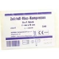 ZELLSTOFF VLIES-KOMPRESSEN 6x8CM STERIL, 5X1 ST, Kerma Verbandstoff GmbH