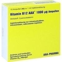 Vitamin B12 AAA 1000ug, 10X1 ML, Aaa - Pharma GmbH