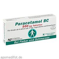 Paracetamol BC 500mg, 20 ST, Berlin-Chemie AG