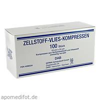 ZELLSTOFF VLIES-KOMPRESSEN 12LG.10X10CM UNSTERIL, 100 ST, Kerma Verbandstoff GmbH