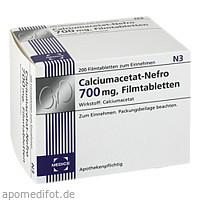 Calciumacetat-Nefro 700mg, 200 ST, Medice Arzneimittel Pütter GmbH & Co. KG