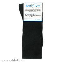 BEST4FEET Silberstrumpf schwarz Gr. M (38-40), 2 ST, Bestsilver GmbH & Co. KG