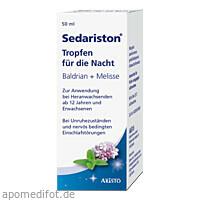 Sedariston Tropfen für die Nacht Baldrian+Melisse, 50 ML, Aristo Pharma GmbH
