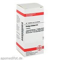 GINKGO BILOBA D 6, 80 ST, Dhu-Arzneimittel GmbH & Co. KG