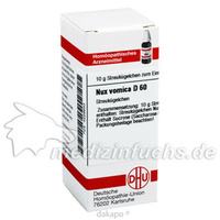 NUX VOMICA D60, 10 G, Dhu-Arzneimittel GmbH & Co. KG