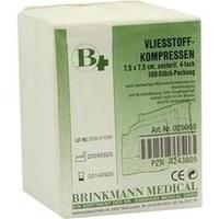 VLIESSTOFF KOM BRI 7.5X7.5, 100 ST, Brinkmann Medical Ein Unternehmen der Dr. Junghans Medical GmbH