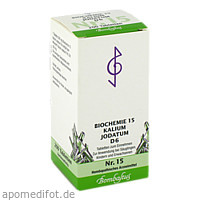Biochemie 15 Kalium jodatum D 6, 200 ST, Bombastus-Werke AG