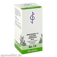 Biochemie 15 Kalium jodatum D12, 200 ST, Bombastus-Werke AG