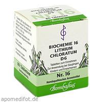 Biochemie 16 Lithium chloratum D 6, 80 ST, Bombastus-Werke AG