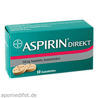 ASPIRIN DIREKT, 10 ST, Bayer Vital GmbH