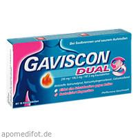 Gaviscon Dual 250mg/106.5mg/187.5mg, 16 ST, Reckitt Benckiser Deutschland GmbH