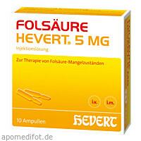 Folsäure Hevert 5mg, 10 ST, Hevert Arzneimittel GmbH & Co. KG