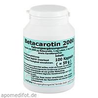 Betacarotin 2000, 100 ST, Endima Vertriebsgesellschaft mbH
