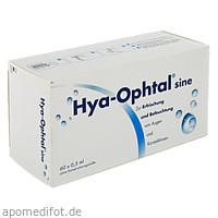 Hya-Ophtal sine, 60X0.5 ML, Dr. Winzer Pharma GmbH