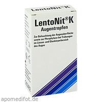 Lento Nit K Augentropfen, 10 ML, Optima Pharmazeutische GmbH