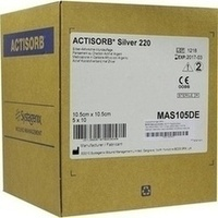 ACTISORB 220 SILVER 10.5x10.5cm steril, 50 ST, Bios Medical Services GmbH