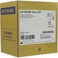 ACTISORB 220 SILVER 9.5x6.5cm steril, 50 ST, Bios Medical Services GmbH