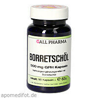Borretschöl 500mg GPH Kapseln, 90 ST, Hecht-Pharma GmbH