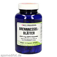 Brennnesselblätter 250mg GPH Kapseln, 120 ST, Hecht-Pharma GmbH