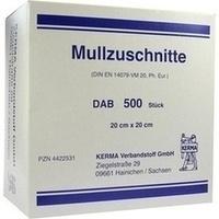 MULLZUSCHNITTE 20X20CM UNSTERIL, 500 ST, Kerma Verbandstoff GmbH