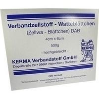 VERBANDZELLSTOFF WATTEBLÄTTCHEN HOCHGEBL.4x6CM, 500 G, Kerma Verbandstoff GmbH