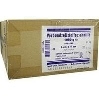 VERBANDZELLSTOFF ZUSCHNITTE HOCHGEBLEICHT 6x6CM, 1000 G, Kerma Verbandstoff GmbH
