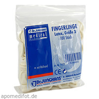FINGERLINGE LATEX GR 3, 100 ST, Dr. Junghans Medical GmbH