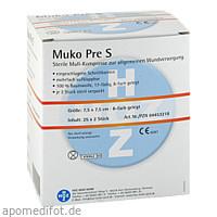 MUKOPRE S STE 7.5X7.5 8F MULLKOMPRESSE, 25X2 ST, Hoz Medi Werk Produktions- und Vertriebs GmbH & Co. KG