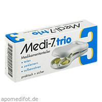 Medi-7 trio Tablettenteiler weiss, 1 ST, Hans-H.Hasbargen GmbH & Co. KG