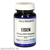 Eisen 14mg GPH Kapseln, 60 ST, Hecht-Pharma GmbH