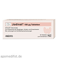 Jodinat 100ug Tabletten, 50 ST, Aristo Pharma GmbH